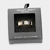 Secret Box _ 14k Gold Dipped Colorful Stone Accented Ring