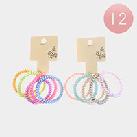 12 Set of 5 - Stretchable Hair Coils Bands