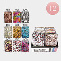 12PCS - Animal Pattern Card Caddy Holders