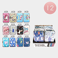 12PCS - Cute Unicorn Pattern Card Caddy Holders