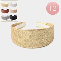 12PCS - Glitter Headbands