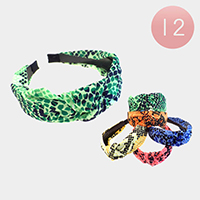 12Pairs - Honey Comb Patterned Head Bands