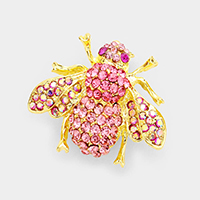 Honey Bee Crystal Rhinestone Pin Brooch