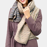 Super Soft Reversible Polka Dot Pleated Scarf Shawl