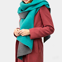 Super Soft Reversible Solid Pleated Scarf Shawl