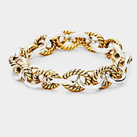 Metal Chain Link Stretch Bracelet