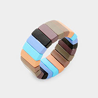 Rectangle Lego Color Block Stretch Ring