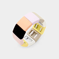 Square Lego Color Block Stretch Ring