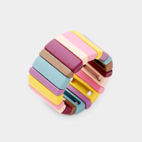 Color Block Lego Bar Stretch Ring