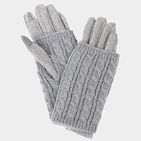 3 IN 1 - CABLE KNIT SMART GLOVES