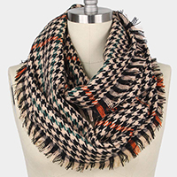 Mini Houndstooth Infinity Scarf