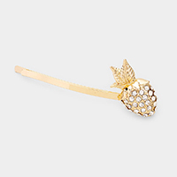 Rhinestone Pave Strawberry Bobby Pin
