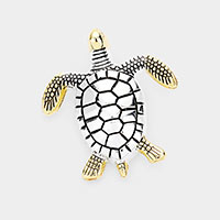 Metal Turtle Brooch / Pendant