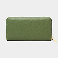 Solid Color Long Wallet