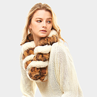 Leopard Faux Fur Twisted Pull Through Scarf