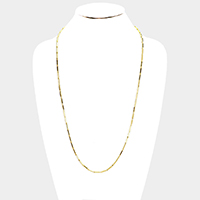 Stainless Steel Chine Link Metal Long Necklace