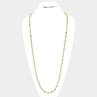 Stainless Steel Ball Metal Long Necklace