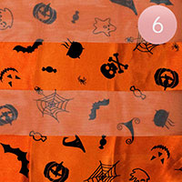 6Pcs - Halloween Pattern Print Scarf