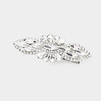 Crystal Teardrop Marquise Pave Snap Alligator Clip