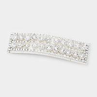 Round Crystal Rhinestone Pave Snap Hair Clip