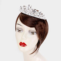 Glass Crystal Marquise Rhinestone Pageant Queen Tiara
