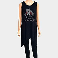'Standing on His Word' Crystal Embellished Sleeveless Top