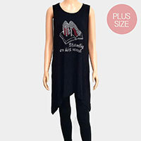 'Standing on His Word' Plus Size Embellished Sleeveless Top