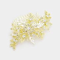 Rhinestone Floral Branch Hair Comb