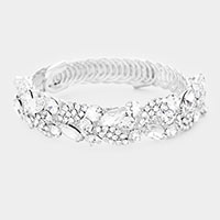 Marquise Crystal Rhinestone Oval Pave Evening Bracelet