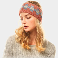 Multi Colored tile Pattern Earmuff Headband