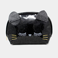 Glitter Kitty Pouch Bag