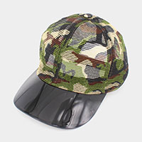 Camo Transparent Brim Trucker Hat
