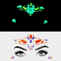 Teardrop Oval Gems Rhinestone Face Jewelry Stickers