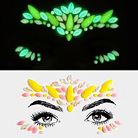 Marquise Oval Gems Rhinestone Face Jewelry Stickers