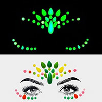 Teardrop Gems Rhinestone Face Jewelry Stickers