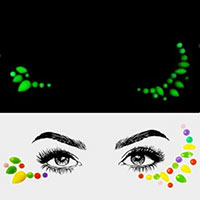 Gems Rhinestone Face Jewelry Stickers