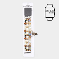 Apple Watch Pre-Layered Steer Head Bead Stretch Strap Band