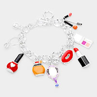 Enamel Cosmetic Charm Toggle Bracelet
