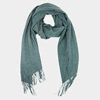 Super Soft Solid Cashmere Feel Fringe Scarf