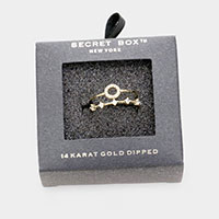 Secret Box - 14K Gold Dipped  Rhinestone Cuff Rings