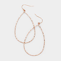 Open Teardrop Metal Drop Earrings