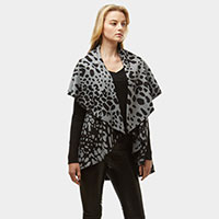 Diameter Animal Print Cape Vest