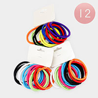 12 Set of 12 - Colorful Stretchable Hair Bands