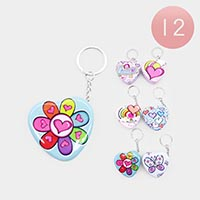 12 PCS - Colorful Cute Pill Box keychains