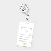 'Nurse Life' Retractable ID Holder