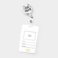 'Cat Mom' Retractable ID Holder