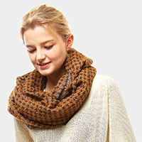 Houndtooth pattern Infinity Scarf