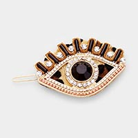 Leopard Evil Eye Barrette