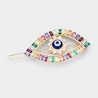 Colorful Stone Evil Eye Barrette