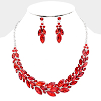 Crystal Marquise Statement Vine Evening Necklace